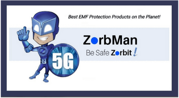 where to attach zorb radiation absorber on various wireless devices