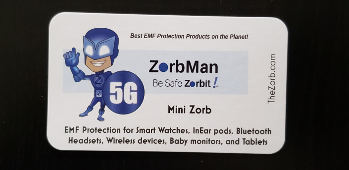 Zorb Mini 2 x 3.5 inch card insert scaled